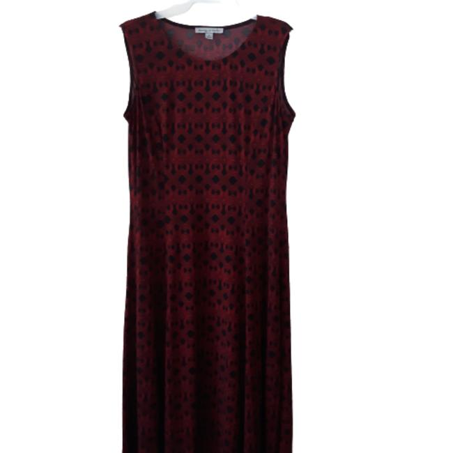 Item - Red/Black Unknown Mid-length Cocktail Dress Size 12 (L)