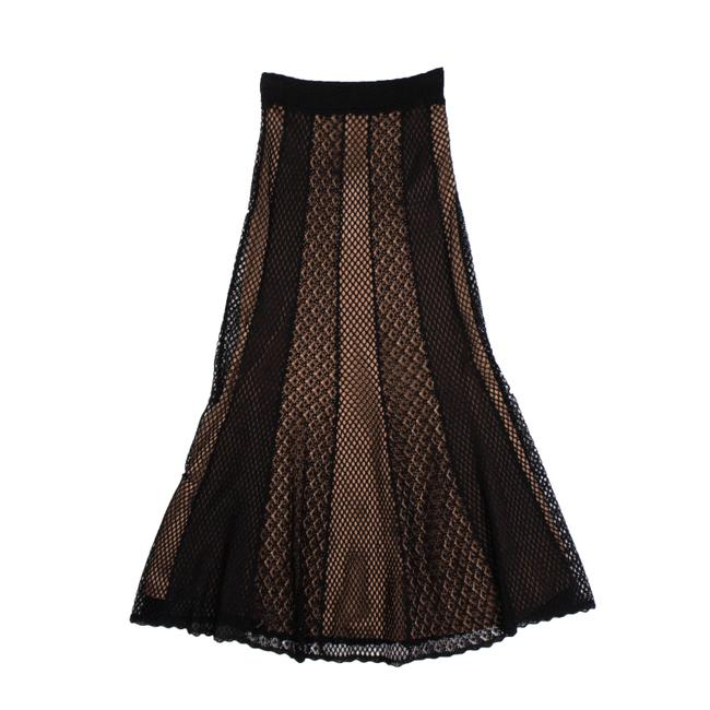 Alexander McQueen Black and Dark Nude Sheer Mesh Skirt Size 4 (S, 27) Alexander McQueen Black and Dark Nude Sheer Mesh Skirt Size 4 (S, 27) Image 1