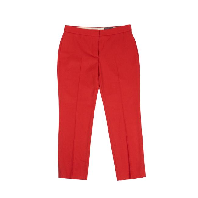 Alexander McQueen Red Cropped Tailored Pants Size 4 (S, 27) Alexander McQueen Red Cropped Tailored Pants Size 4 (S, 27) Image 1