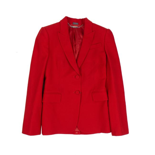 Alexander McQueen Red Slim Fit Tailored Jacket Blazer Size 4 (S) Alexander McQueen Red Slim Fit Tailored Jacket Blazer Size 4 (S) Image 1