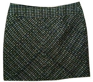 FORENZA Mini Tweed Size 4 Black Skirt black beige