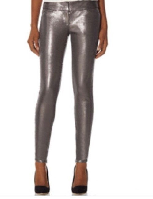 Item - Silver Sequin Legging Skinny Jeans Size 10 (M, 31)