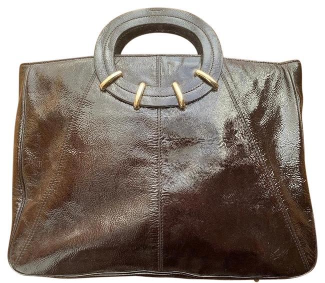 Item - Briefcase / Laptop Brown Patent Leather Tote