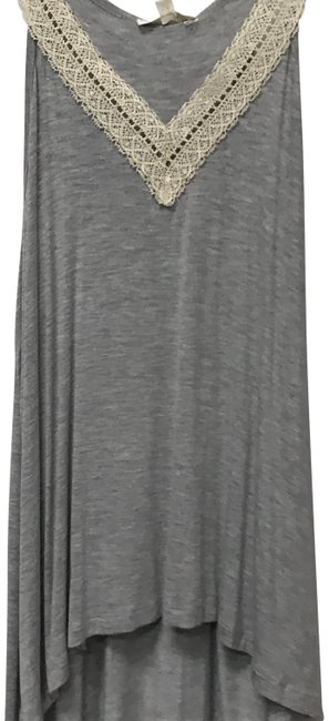 Item - Gray Lace Neck Tank Top/Cami Size 8 (M)