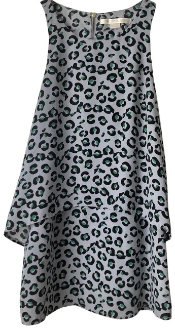Item - Gray/Black/Green Leopard Tiered Sleeveless Blouse Size 0 (XS)