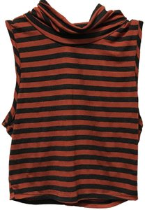 B*Envied Sleeveless Stretchy Striped Top Red and gray