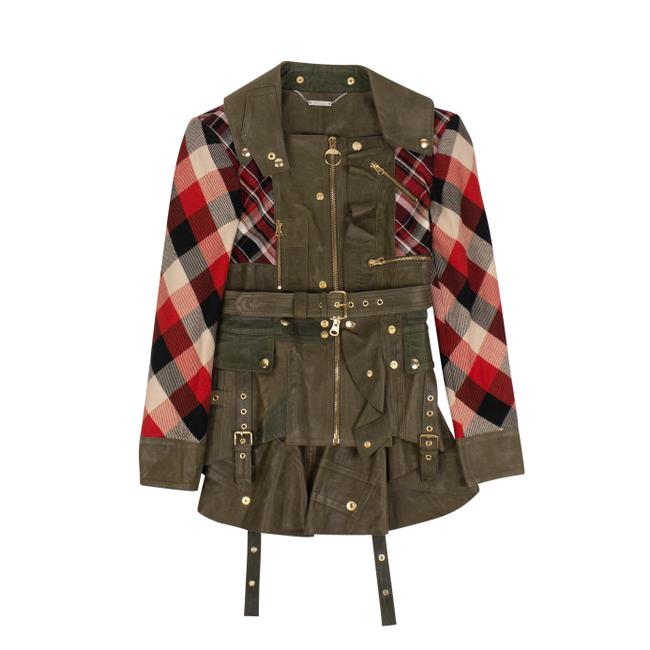 Item - Green Checkered Jacket Size 2 (XS)