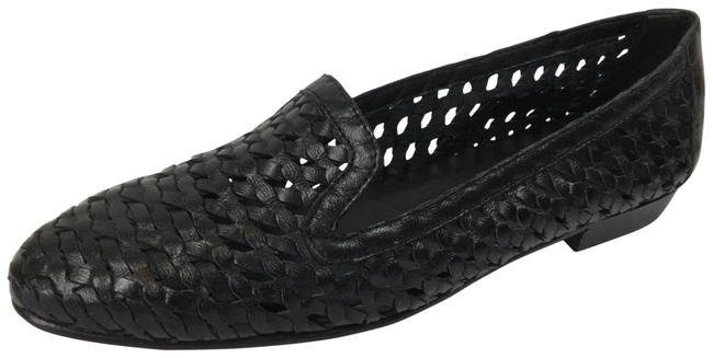 Item - Black Woven Leather Flats Size US 7 Narrow (Aa, N)