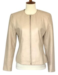 Kate Hill Cream Leather Jacket