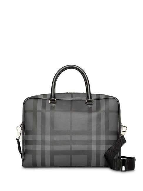 Item - Check Ainsworth Briefcase Charcoal Pvc / Leather Messenger Bag