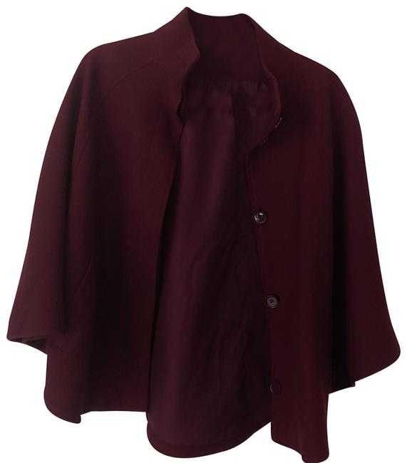 Item - Burgundy Cropped Poncho/Cape Size 8 (M)