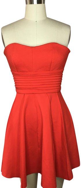 Item - Red Bustier Type Fit N Flare Short Cocktail Dress Size 12 (L)