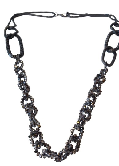 Preload https://item1.tradesy.com/images/black-mixed-link-necklace-2758285-0-0.jpg?width=440&height=440