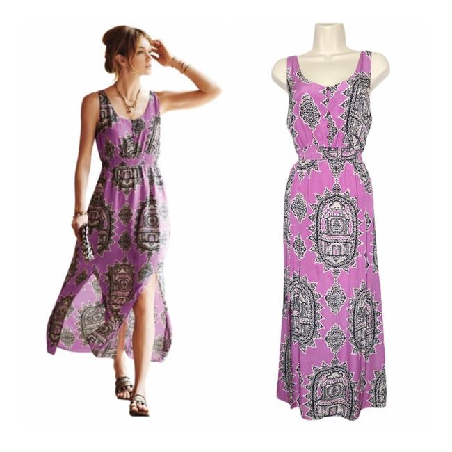 Item - Lilac Maeve Silk Long Casual Maxi Dress Size 6 (S)