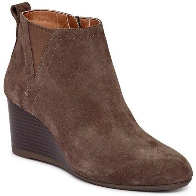 Vionic Brown Paloma Wedge Greige Suede Boots/Booties Size US 8 Regular (M, B) Vionic Brown Paloma Wedge Greige Suede Boots/Booties Size US 8 Regular (M, B) Image 1