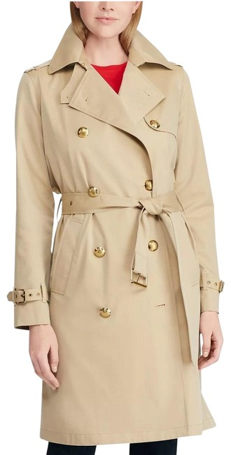 Lauren Ralph Lauren Khaki Tan Gold Buttons Coat Size 18 (XL, Plus 0x) Lauren Ralph Lauren Khaki Tan Gold Buttons Coat Size 18 (XL, Plus 0x) Image 1