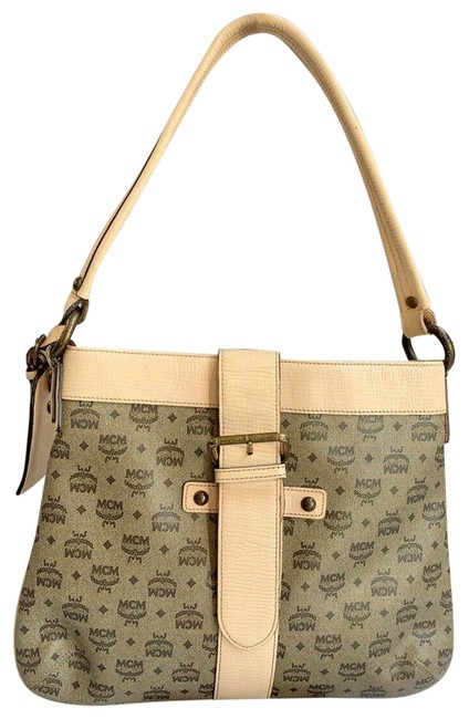Item - Small Tote Light Pink Brown Coated Canvas Leather Shoulder Bag