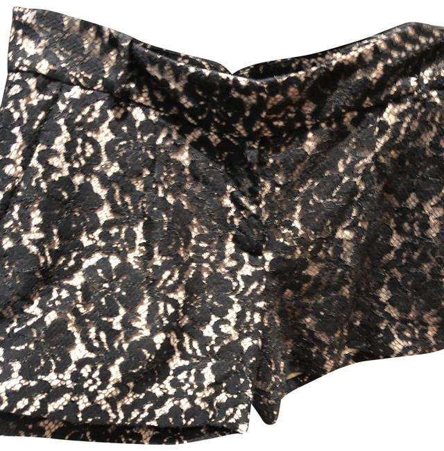 Item - Black and Nude Lace Mini Shorts Size 4 (S, 27)