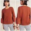 Anthropologie Rust Adele Bell Sleeve Tee Blouse Size 2 (XS) Anthropologie Rust Adele Bell Sleeve Tee Blouse Size 2 (XS) Image 9