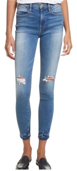 Item - Distressed Roman [frame] Le High In Skinny Jeans Size 26 (2, XS)