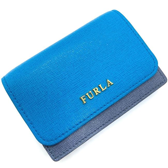 Item - Blue / Gray Business Card Holder Bicolor Pass Case 00792402 Leather Tuo Ladies Wallet