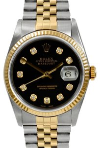 Rolex Rolex DateJust 18K Gold and Stainless Steel Custom Diamond Men's Watch