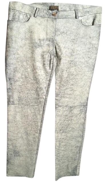 Item - Black and Tan Long Beige Cracked Leather Pants Size 8 (M, 29, 30)