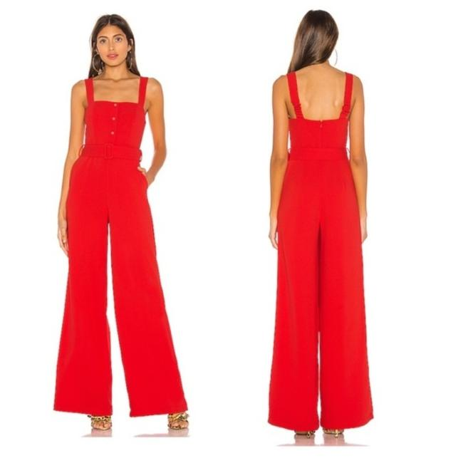 Item - Red Lovers + Friends Revolve Zipped Up One Piece Romper/Jumpsuit
