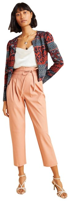 Item - Peach Chelsea Tapered Faux Leather Pants Size 4 (S, 27)