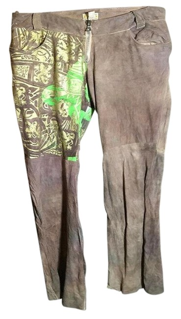 Item - Brown Hand Painted Green Gold Pants Size 10 (M, 31)
