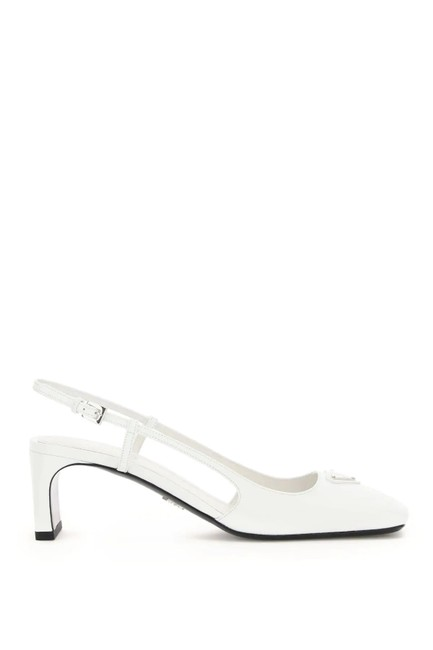 Item - White Cr Slingback Pumps Size EU 39 (Approx. US 9) Regular (M, B)