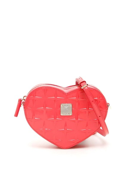 MCM Cr New Patricia Diamond Heart Pink Leather Cross Body Bag MCM Cr New Patricia Diamond Heart Pink Leather Cross Body Bag Image 1