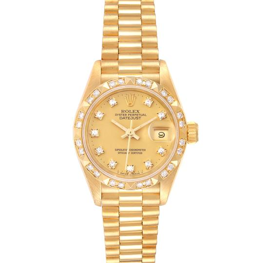 Preload https://img-static.tradesy.com/item/27584869/rolex-champagne-president-datejust-yellow-gold-pyramid-diamond-bezel-69258-watch-0-0-540-540.jpg