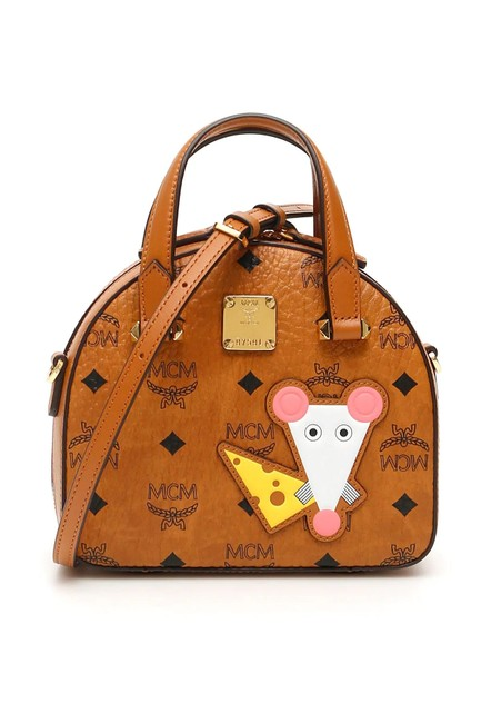 MCM Mini Bag Cr New Essential Visetos Year Of The Mouse Brown Leather Tote MCM Mini Bag Cr New Essential Visetos Year Of The Mouse Brown Leather Tote Image 1