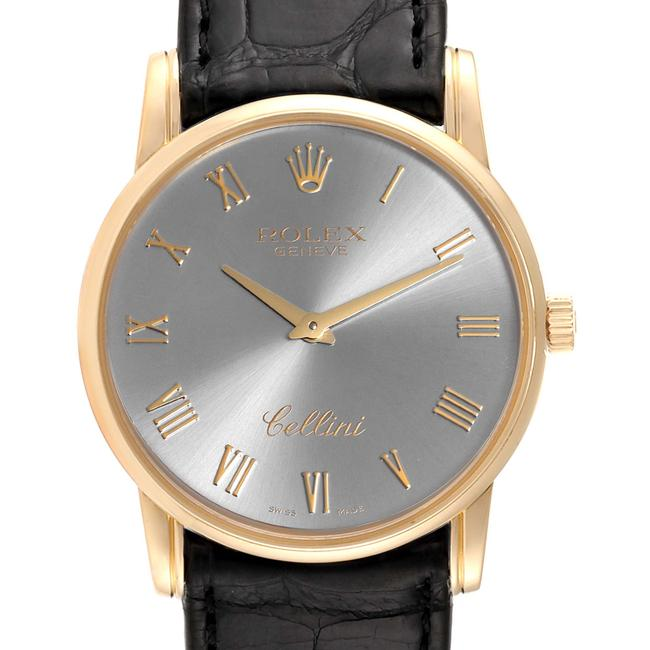 Rolex Slate Cellini Classic Dial 18k White Gold Mens 5116 Watch Rolex Slate Cellini Classic Dial 18k White Gold Mens 5116 Watch Image 1