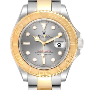 Rolex Rolex Yachtmaster Steel Yellow Gold Slate Dial Mens Watch 16623 Box