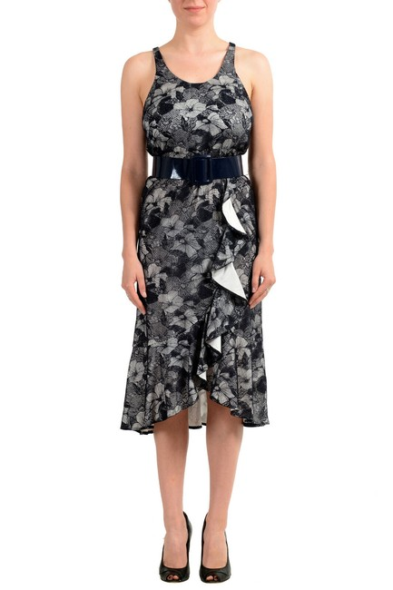 Preload https://img-static.tradesy.com/item/27585036/viktor-and-rolf-black-white-women-s-lace-belted-sleeveless-ruffled-mid-length-short-casual-dress-siz-0-0-650-650.jpg