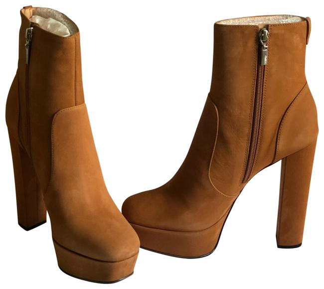 SCHUTZ Brown Djuly Leather Ankle Bootie Platforms Size US 8.5 Regular (M, B) SCHUTZ Brown Djuly Leather Ankle Bootie Platforms Size US 8.5 Regular (M, B) Image 1