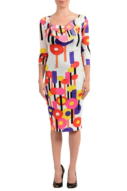 Item - Multi-color Women's Stretch Bodycon Mid-length Short Casual Dress Size 2 (XS)