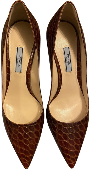 Prada Cognac Calzature Donna Pumps Size US 9 Regular (M, B) Prada Cognac Calzature Donna Pumps Size US 9 Regular (M, B) Image 1