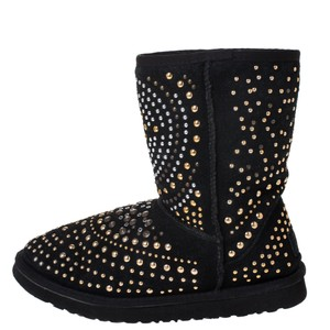 Jimmy Choo Studded Suede Black Boots