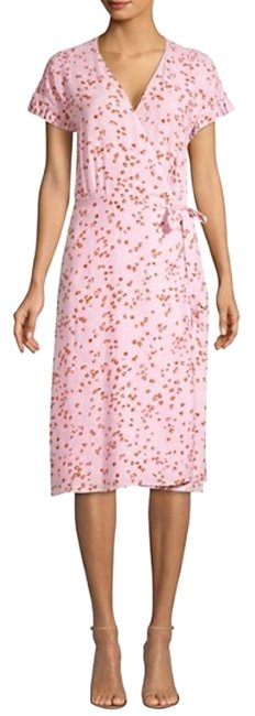 Item - Pink Bethwyn Floral Wrap Style Code: 0400011884589 Mid-length Cocktail Dress Size 4 (S)