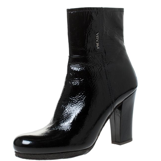 Item - Black Patent Leather Ankle Length Boots/Booties Size US 10.5 Regular (M, B)