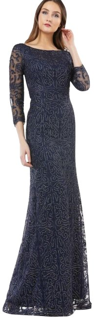 Preload https://img-static.tradesy.com/item/27585447/js-collections-blue-embroidered-boat-neck-gown-long-formal-dress-size-6-s-0-1-650-650.jpg