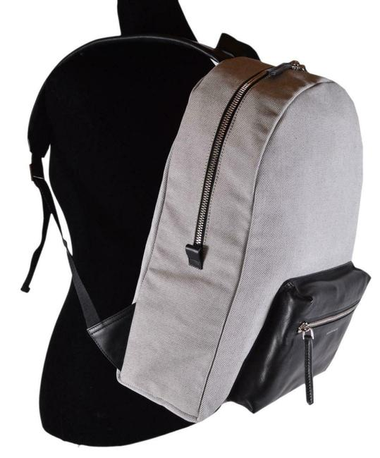Item - New Tweed Skull Black and White Canvas Leather Backpack