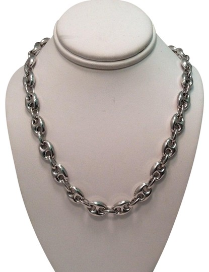 Preload https://img-static.tradesy.com/item/27585556/silver-italy-925-sterling-76mm-puffed-hand-made-marina-mariner-chain-necklace-0-1-540-540.jpg