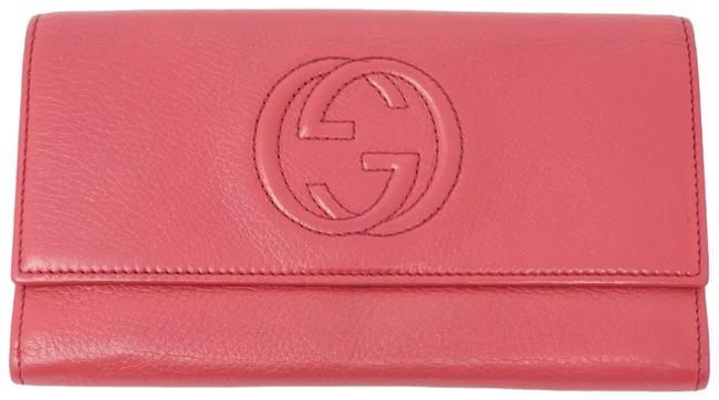 Gucci Red Bifold Leather Gg Wallet Gucci Red Bifold Leather Gg Wallet Image 1
