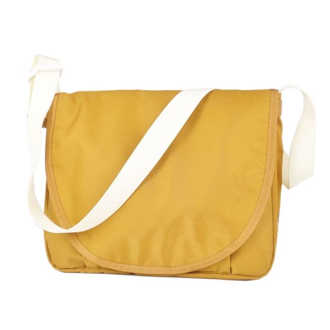 Porter Shoulder Ladies Men Mustard / White / Yellow Nylon Messenger Bag Porter Shoulder Ladies Men Mustard / White / Yellow Nylon Messenger Bag Image 1