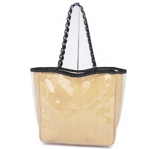 Preload https://img-static.tradesy.com/item/27585782/salvatore-ferragamo-bag-vala-chain-jute-ladies-beige-clear-pvc-tote-0-0-540-540.jpg