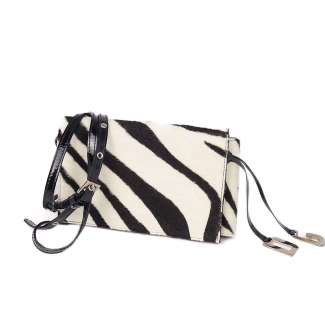 Dolce&Gabbana Black / White Harako Leather Shoulder Zebra Pattern Wallet Dolce&Gabbana Black / White Harako Leather Shoulder Zebra Pattern Wallet Image 1